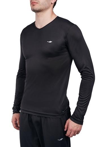 Lescon Siyah Erkek Uzun Kol T-Shirt 20S-1223 Siyah
